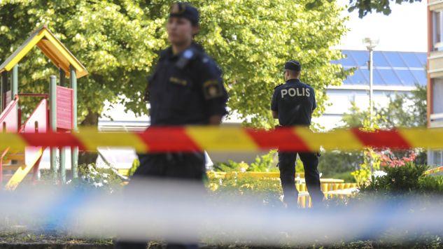 Do tragedii doszło w dzielnicy Angered w Göteborgu (fot. PAP/EPA/ADAM IHSE)