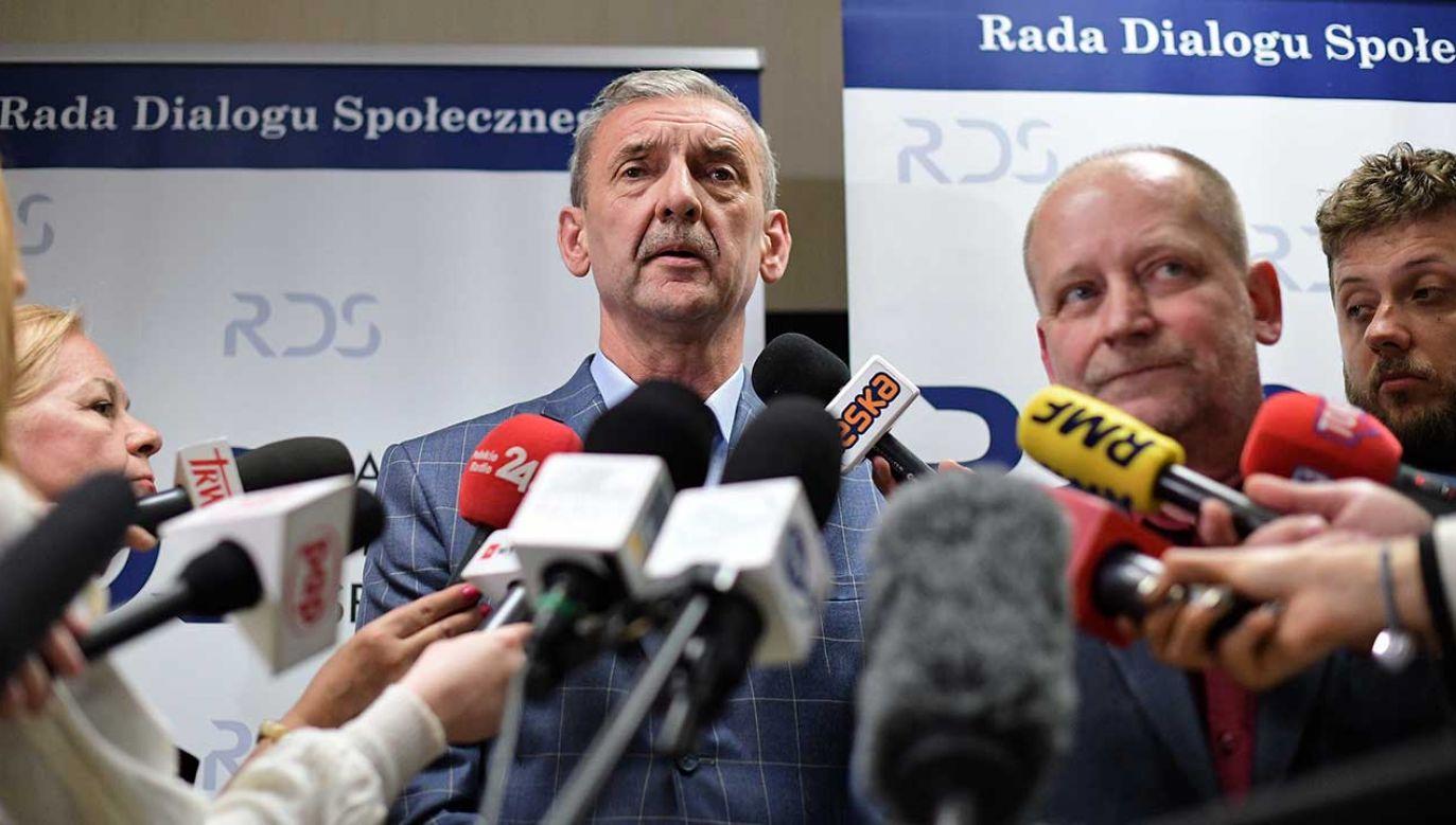 Przewodniczący ZNP Sławomir Broniarz (fot. PAP/Marcin Obara)