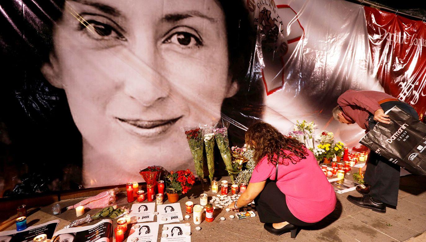 Zabójstwo Caruany Galizii poruszyło światową opinię publiczną (fot. REUTERS/Darrin Zammit Lupi)