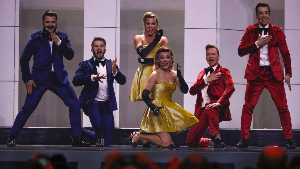 """""""My Lucky Day"""" zaśpiewali DoReDos. Reprezentanci Mołdawii wprowadzili na scenę wiele radości! (fot. Andreas Putting/eurovision.tv)"""