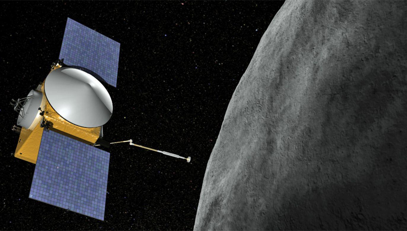 Sonda Osiris Rex ma pobrać próbki z powierzchni Bennu i dostarczyć je na Ziemię (fot. NASA)