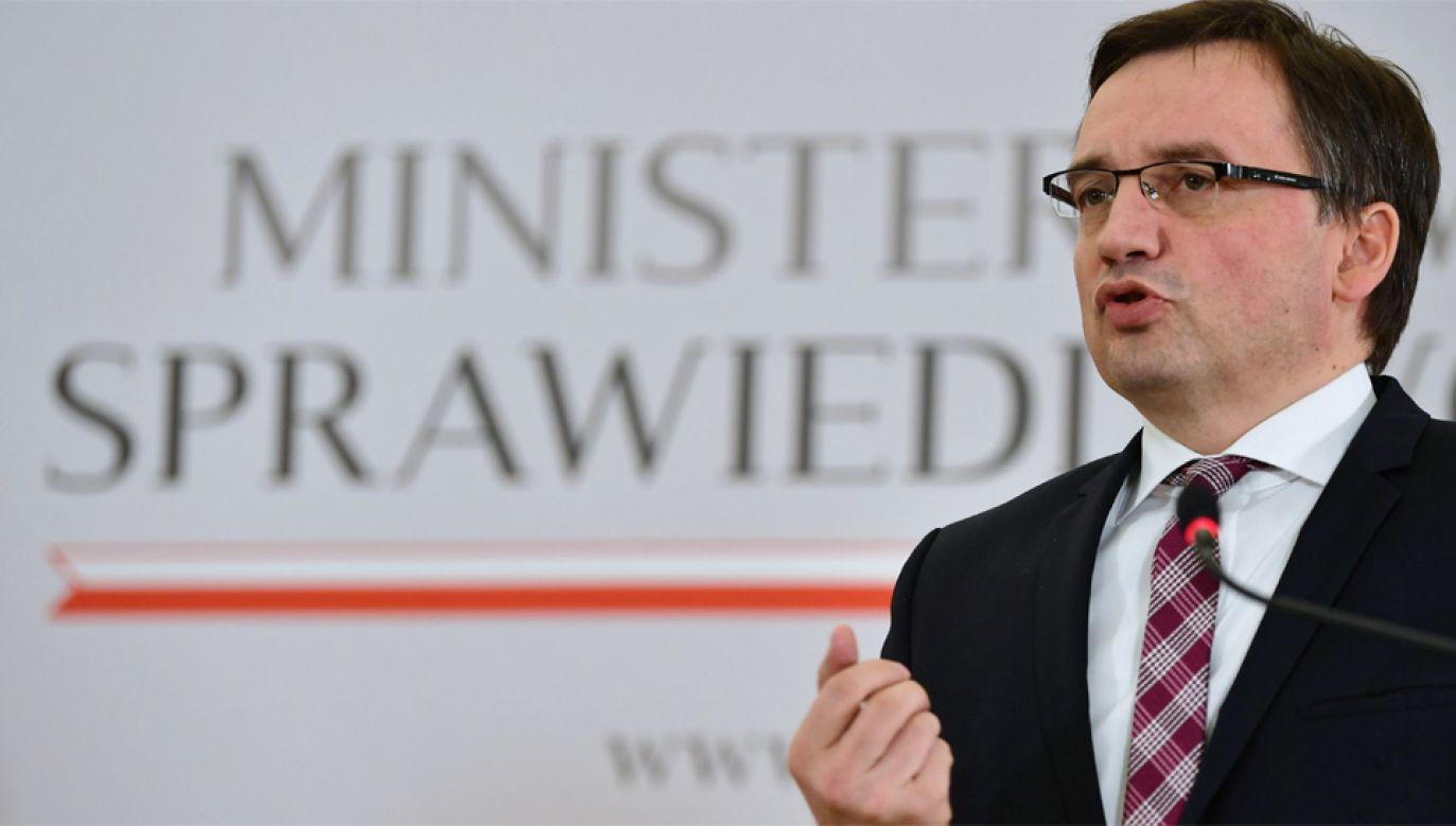 Minister sprawiedliwości i Prokurator Generalny Zbigniew Ziobro (fot. PAP/Bartłomiej Zborowski)