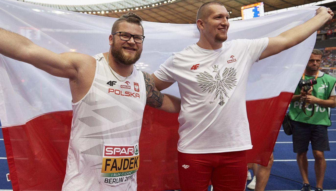 Paweł Fajdek i Wojciech Nowicki potwierdzili polskądominację w rzucie młotem (fot. PAP/Adam Warżawa)