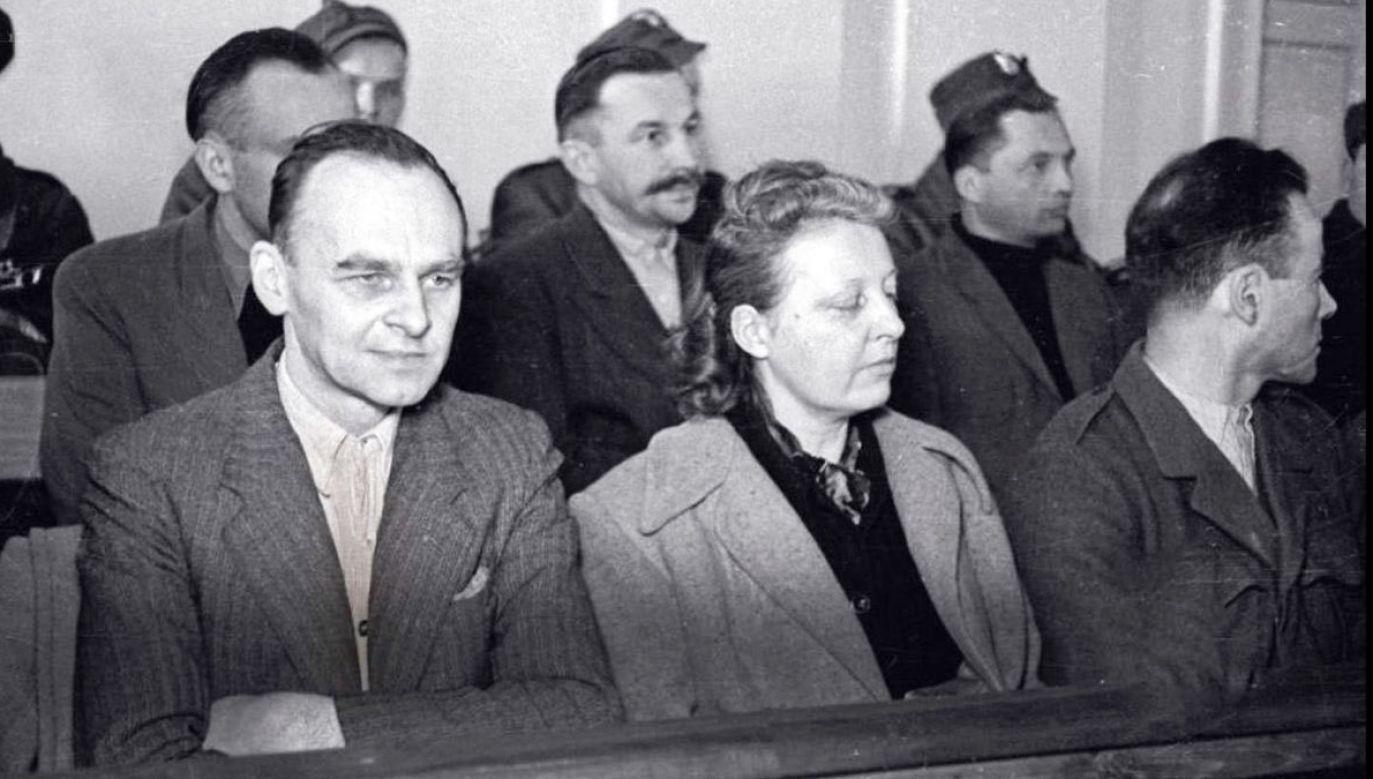 Witold Pilecki na ławie oskarżonych (fot. wikipedia/IPN)