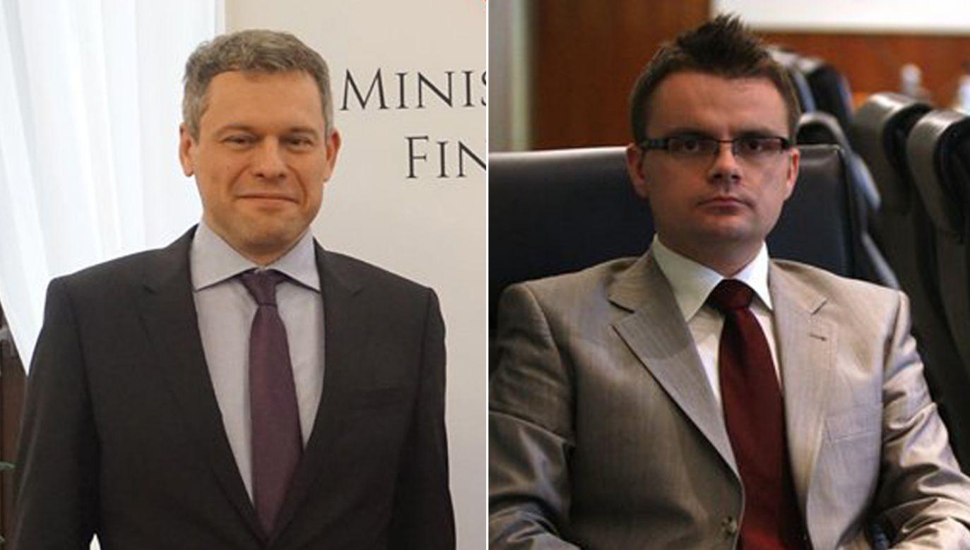 Wiceminister finansów Filip Świtała (L) i Filip Świtała – były zastępca przewodniczącego KNF (P) (fot. TT/Ministerstwo Finansów/finanse)