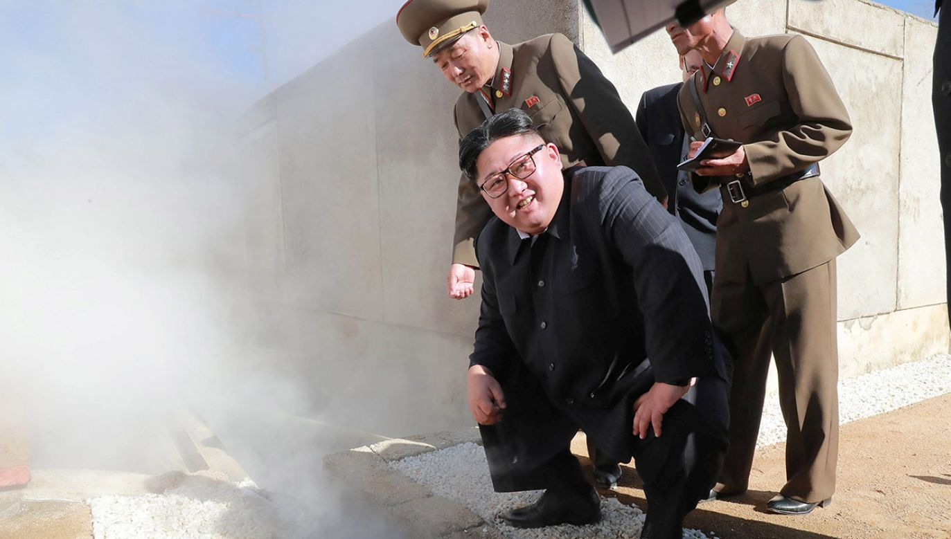 Test odbył się w Akademii Nauk Obrony Narodowej i był pomyślny (fot. KCNA/via Reuters)