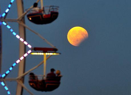 Częściowe zaćmienie Księżyca nad Polską
