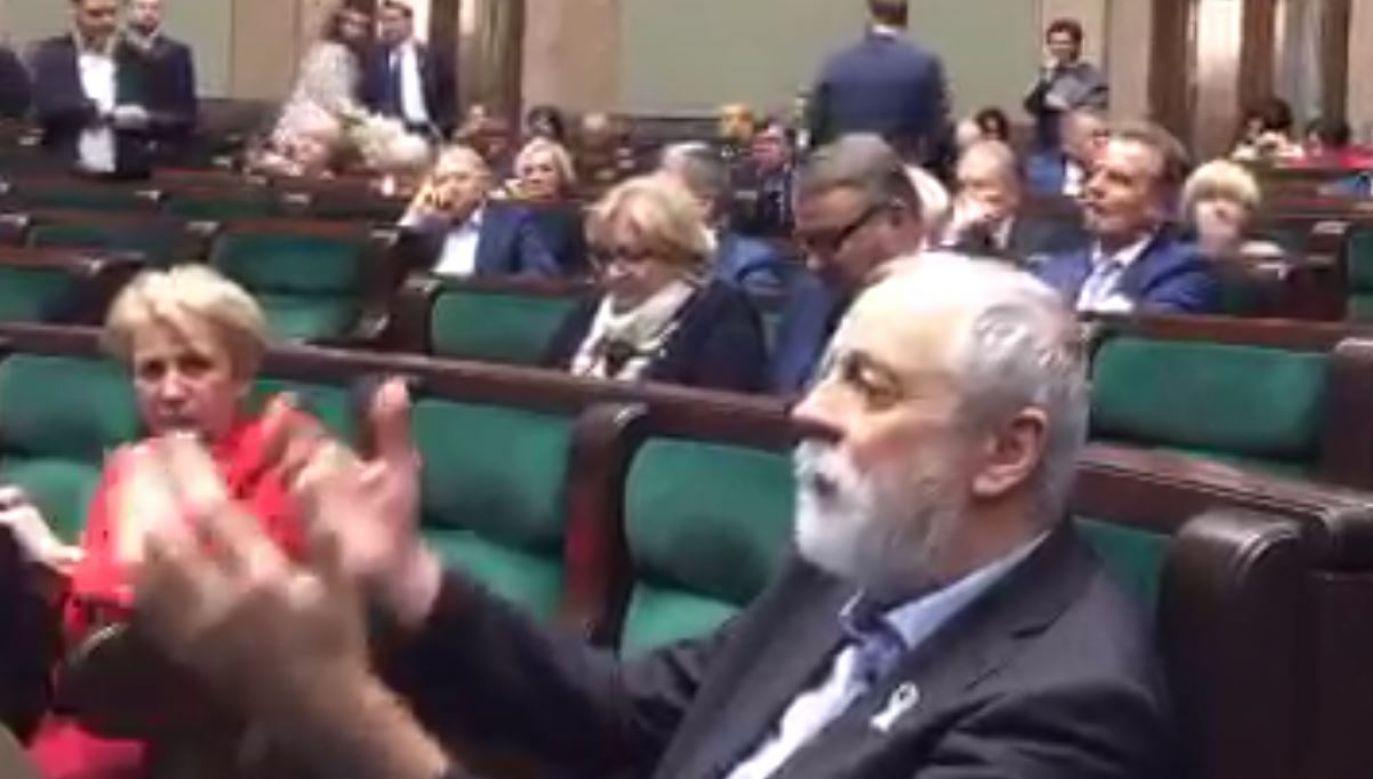Posłowi PO nie podobało się przemówienia premiera Morawieckiego (fot. Joanna Lichocka/Twitter)