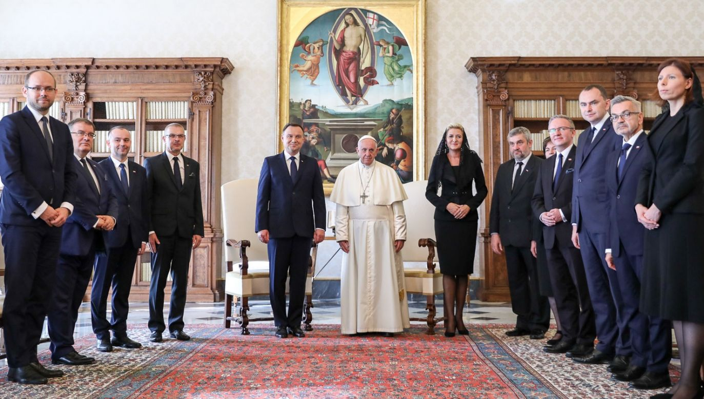This is the third meeting of the Polish president Andrzej Duda with Pope Francis. Photo: KPRP/Jakub Szymczuk