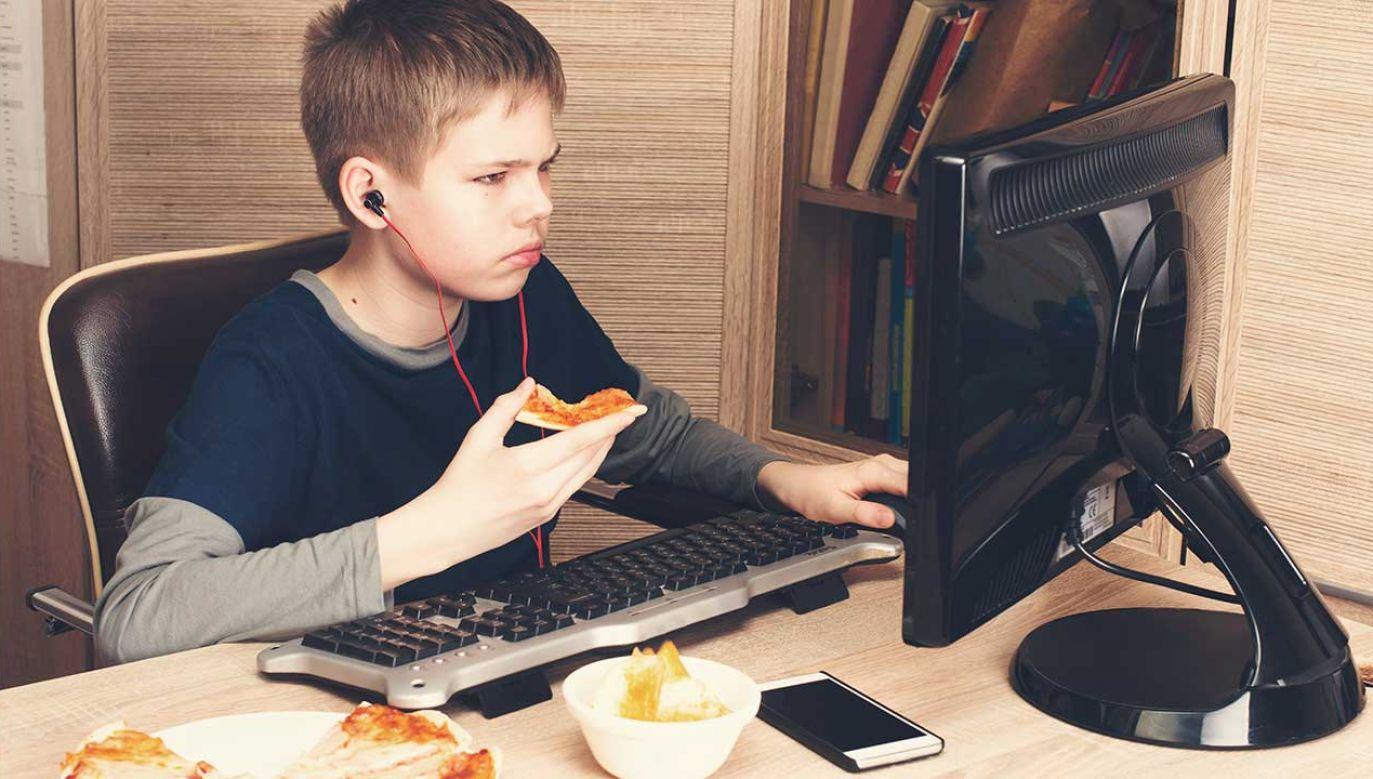 Przesiadywanie przed komputerem sprzyja wielu chorobom, w tym otyłości (fot. arch. Shutterstock/p_ponomareva)