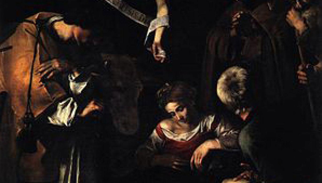 """Obraz Caravaggia """"Pokłon pasterzy ze świętym Wawrzyńcem i Franciszkiem"""" (fot. wikipedia.org)"""