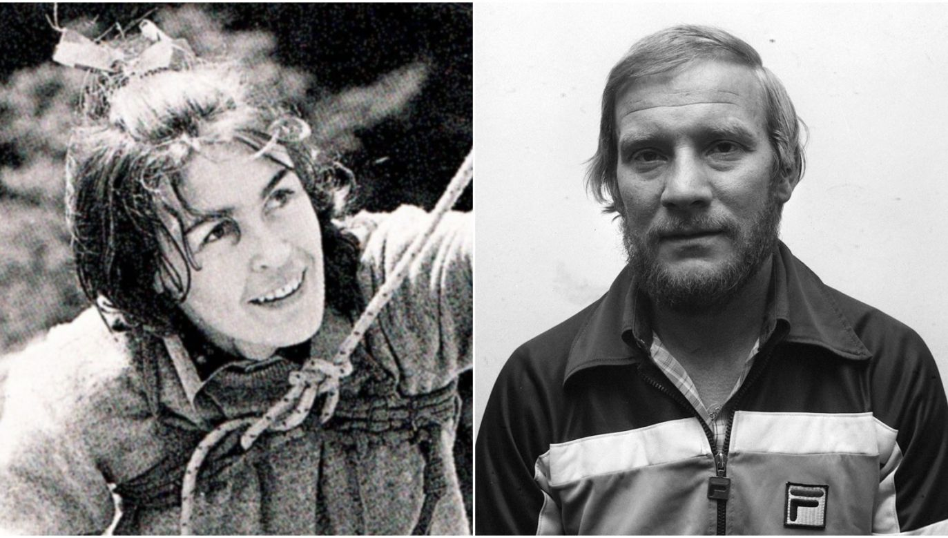 Jerzy Kukuczka (R) – the second man to climb all eight-thousanders in the world and Wanda Rutkiewicz (L) – the first woman to climb K2, and the first Polish national and European woman to summit Mount Everest. Photo: Wikimedia Commons, PAP
