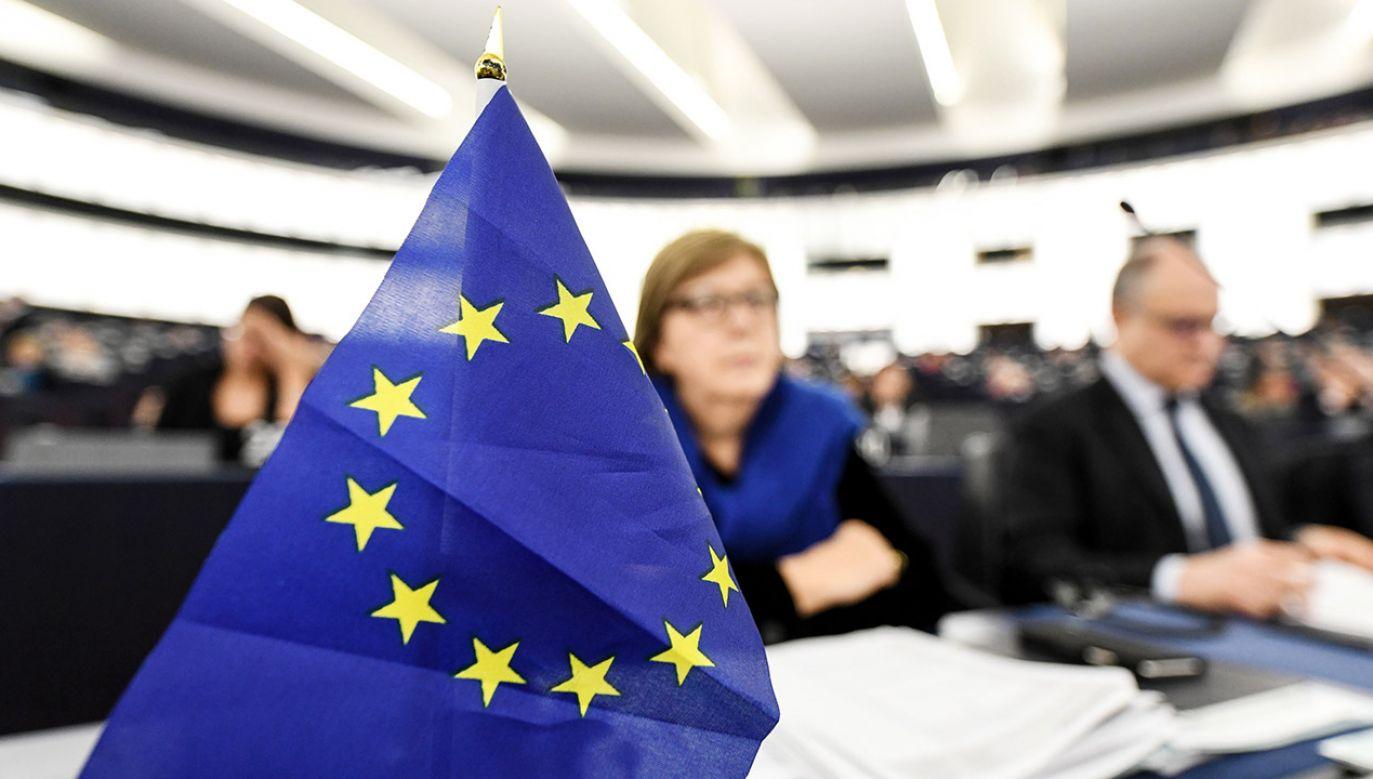 Za przyjęciem sprawozdania w tej sprawie głosowało podczas sesji PE w Strasburgu 397 europosłów (fot. PAP/EPA/PATRICK SEEGER)