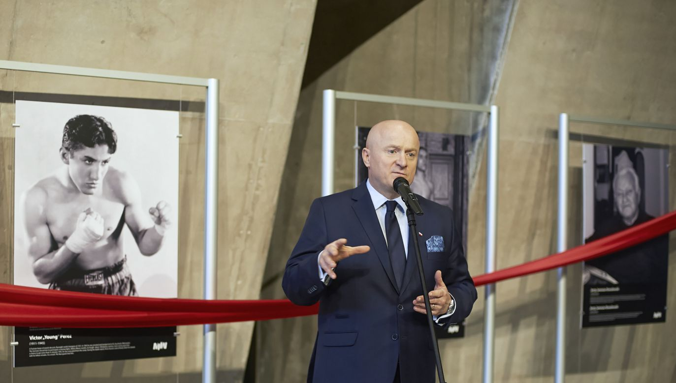 """Boxers in the nightmare of death camps"" exhibition opened in the Museum of the Second World War in Gdańsk Photo: PAP/Dominik Kulaszewicz"