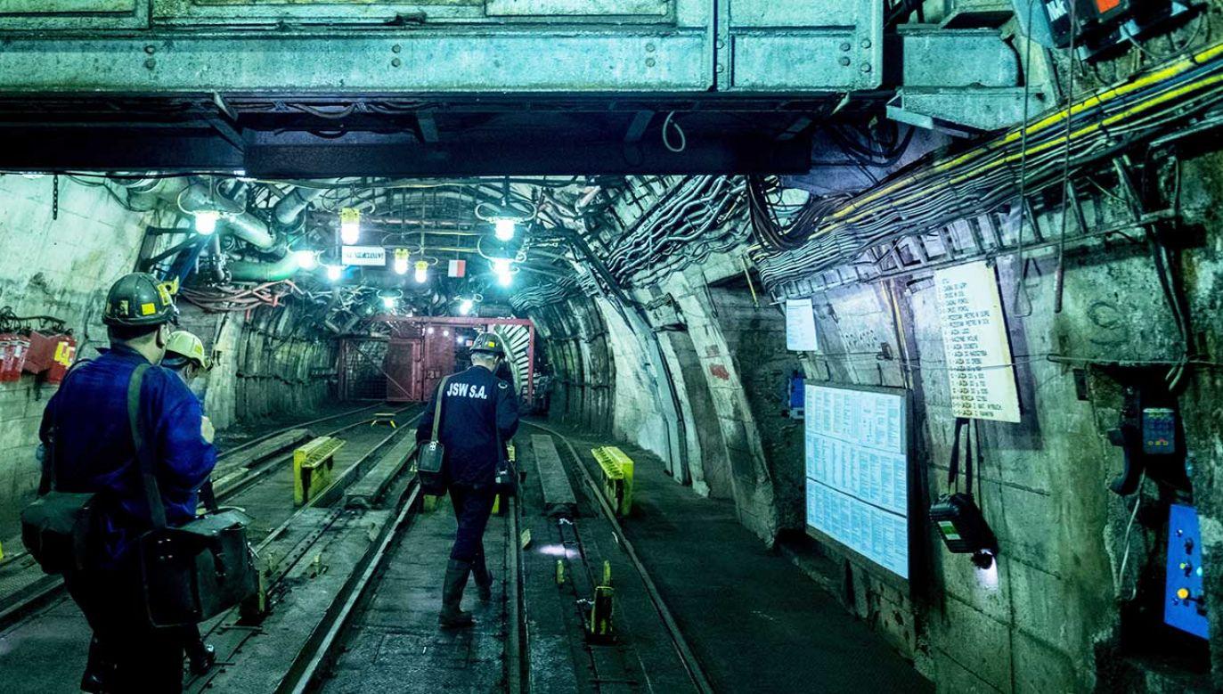 Podszybie na poziomie 1050. W kopalni Budryk  (fot.  arch. PAP/Andrzej Grygiel)
