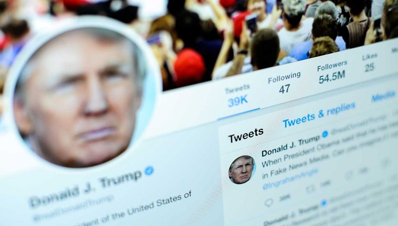 Prezydent Trump narzeka na Twittera (fot. Jaap Arriens/NurPhoto via Getty Images)