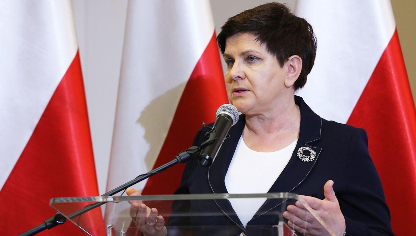 . Wicepremier Beata Szydło (fot. PAP/Tomasz Gzell)