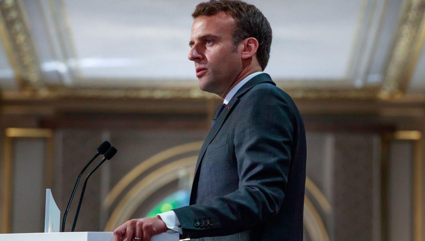 Pełne zadowolenie z prezydentury Macrona zadeklarowało tylko 5 proc. respondentów (fot. PAP/EPA/CHRISTOPHE PETIT TESSON)