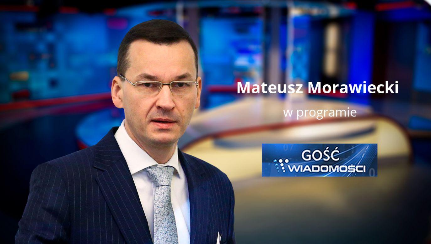 Mateusz Morawiecki będzie gościem TVP1 (fot. TVP Info)