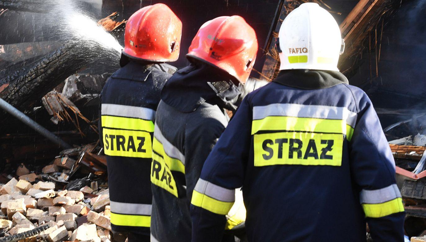 Zapalił się styropian z ocieplenia ścian dworca (fot. arch.PAP/Marcin Bielecki, zdjęcie ilustracyjne)