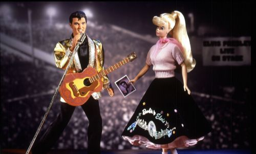 Barbie i Evis - na 20. rocznicę śmierci Presleya. Fot. PA Images via Getty Images