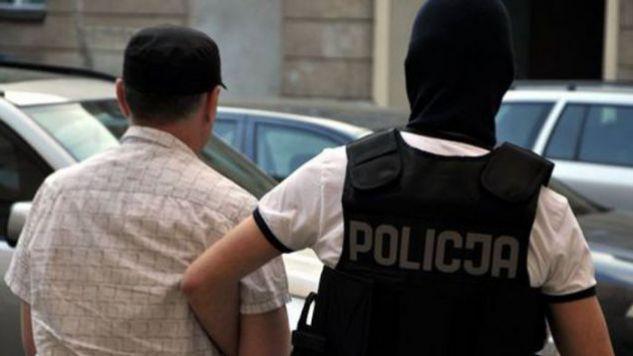 Andrzej P. po jednym z zatrzymań przez policję (fot. policja)