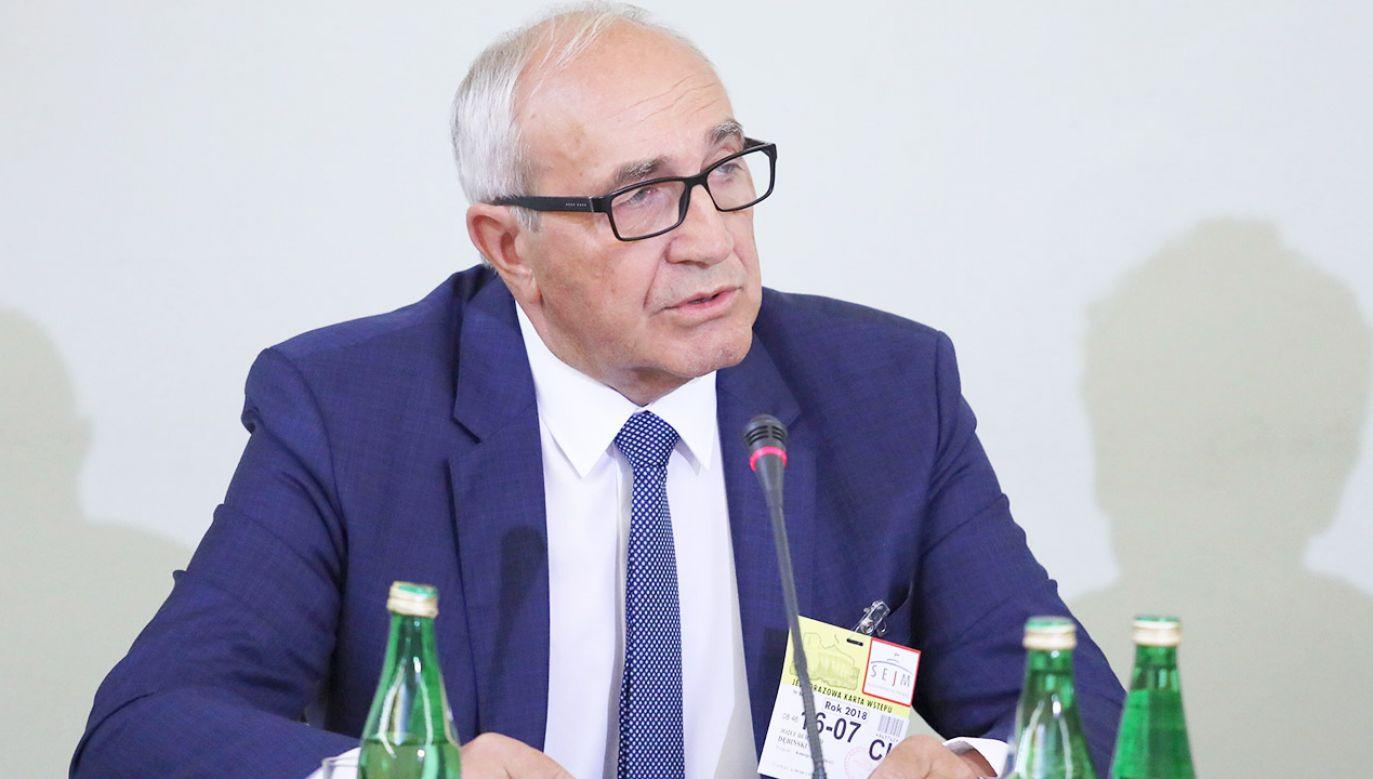 Syndyk masy upadłości Amber Gold sp. z o.o. Józef Dębiński (fot. PAP/Tomasz Gzell)