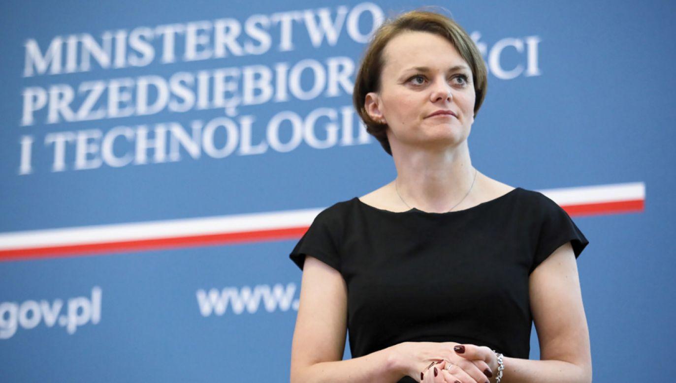 Szefowa MPiT Jadwiga Emilewicz (fot. atch.PAP/Leszek Szymański)