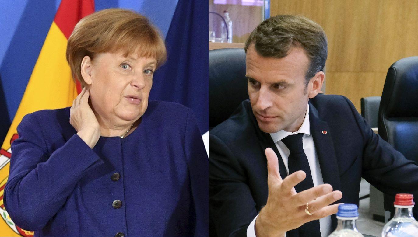 Kanclerz Niemiec Angela Merkel i Prezydent Francji Emmanuel Macron podczas nieformalnego spotkania państw UE w sprawie migracji i kwestii azylowych (fot. PAP/EPA/Olivier Hoslet/Geert Vanden Wijngaert/POOL)
