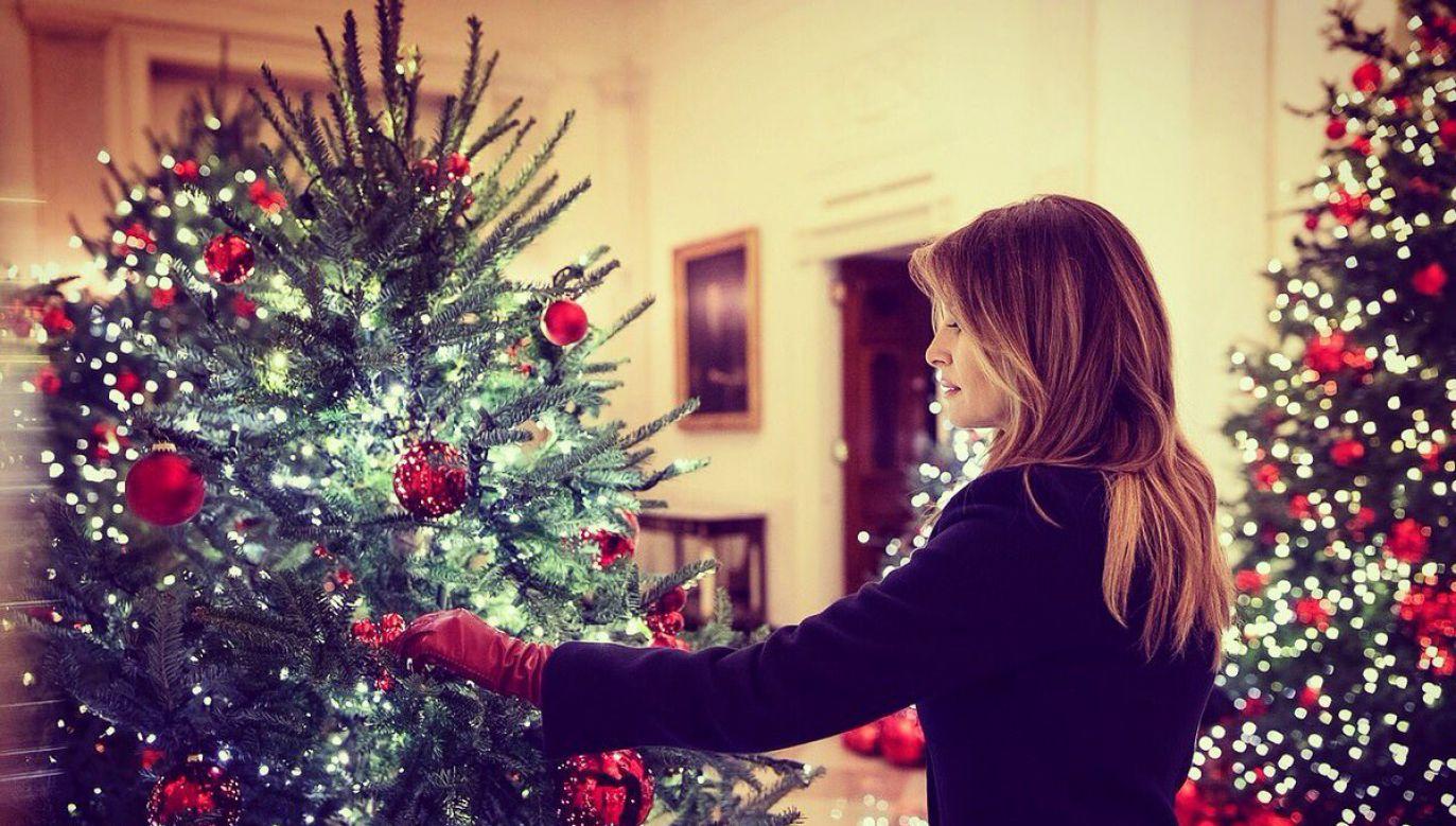 """""""Biały Dom jest gotowy do świąt"""" (fot. /twitter.com/FLOTUS)"""