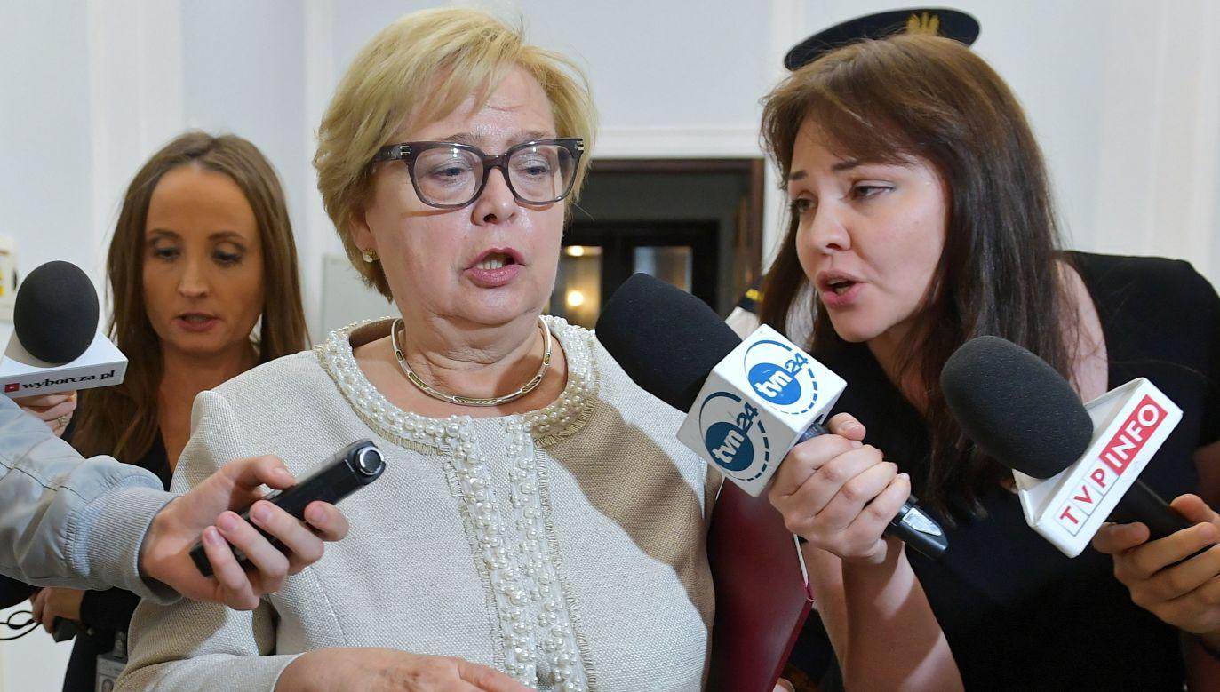 Archival image of disputed Supreme Court leader Małgorzata Gersdorf. Photo: PAP/Marcin Obara