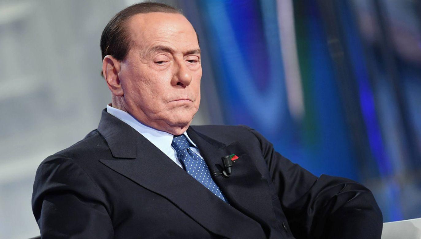Silvio Berlusconi trzykrotnie był premierem Włoch (fot. arch.PAP/Photoshot)