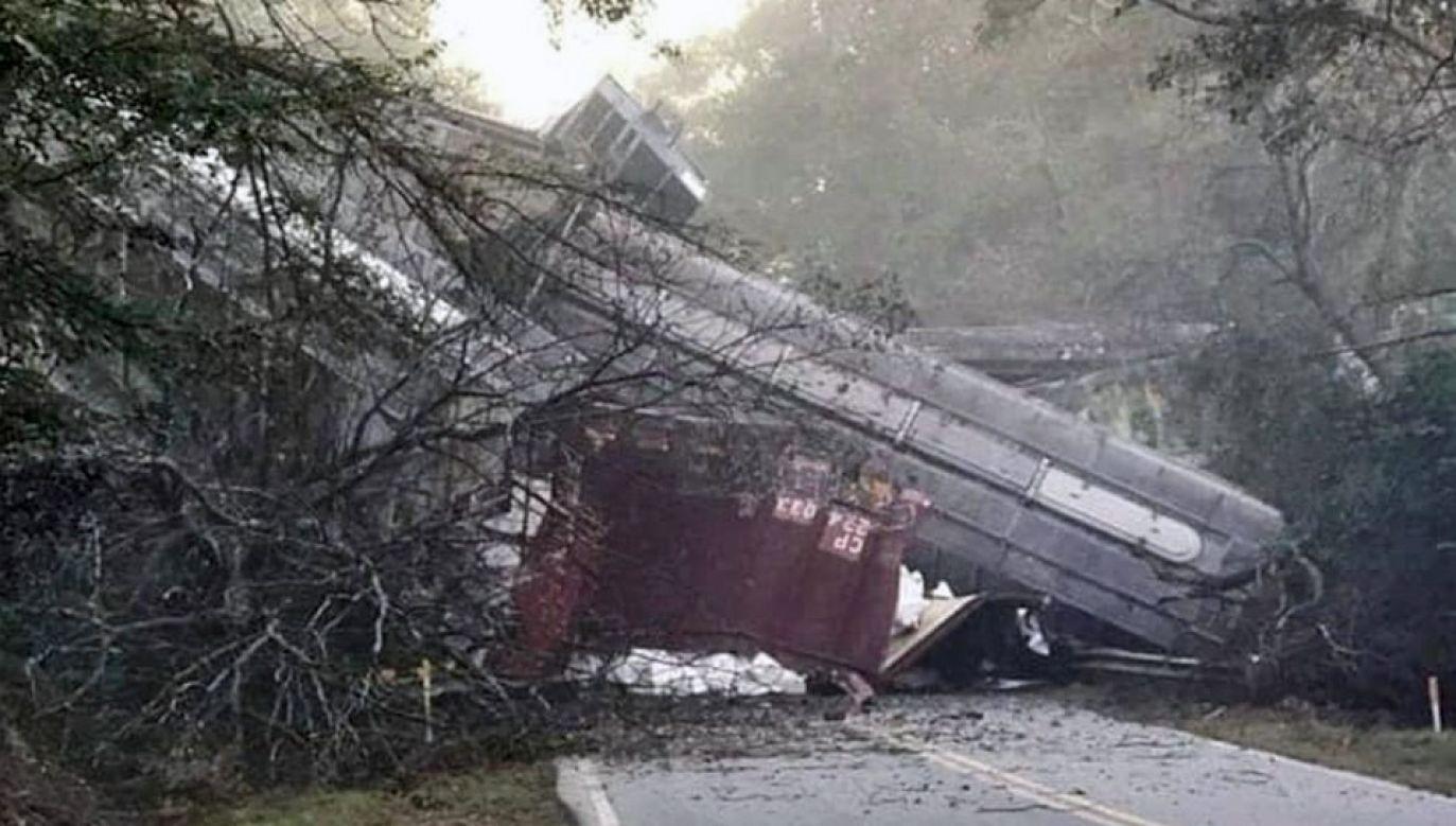 Do katastrofy doszło w pobliżu miejscowości Byromville w stanie Georgia (fot. facebook.com/WGXA.TV)