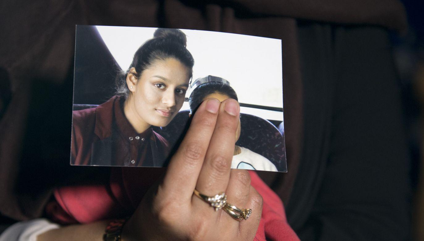Shamima Begum na zdjęciu wykonanym przed wyjazdem mdo Syrii (fot. Laura Lean - WPA Pool/Getty Images)