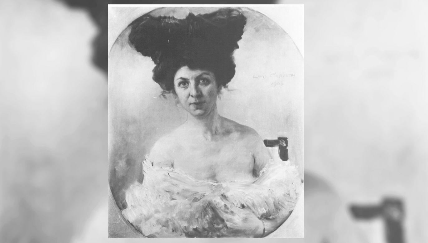 """Lovis Corinth –  """"Portret damy z wachlarzem""""  (fot. Wydział strat wojennych)"""