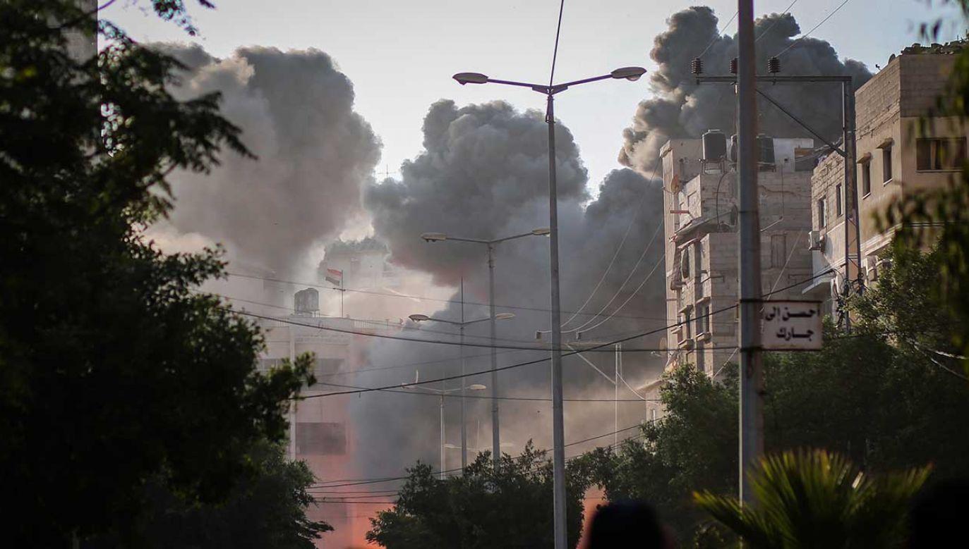 Atak rakietowy na Izrael jest pierwszym od kilku miesięcy (fot. Mahamed Zarandah/SOPA Images/LightRocket via Getty Images)