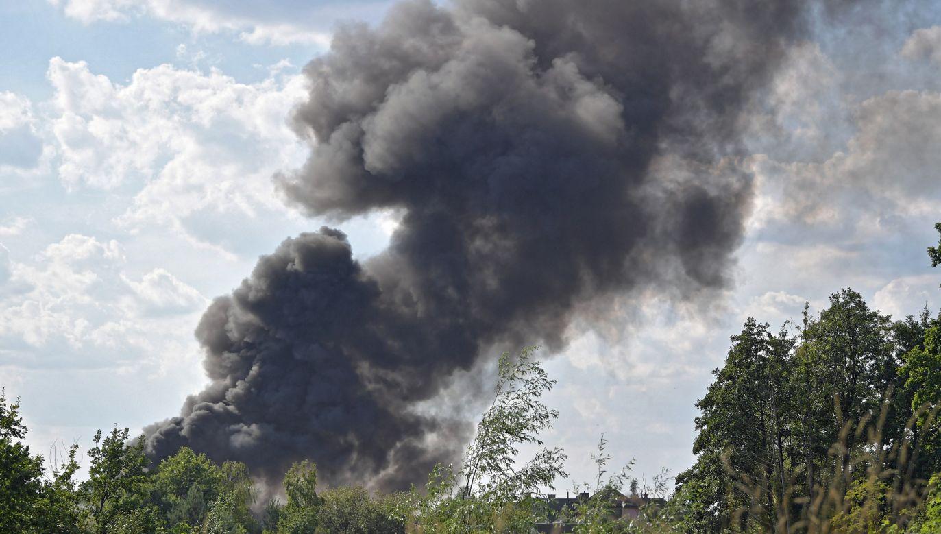 Pożar wybuchł na składowisku odpadów w Kiełczu niedaleko Nowej Soli (fot. PAP/Przemysław Piątkowski)
