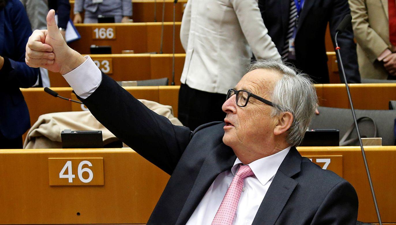 Przewodniczący Komisji Europejskiej Jean-Claude Juncker (fot. REUTERS/Francois Lenoir)