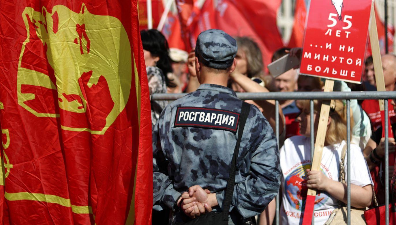Kilka lat temu powołano do życia specjalną formację o nazwie Gwardia Narodowa, zwaną Rosgwardią (fot. Stanislav Krasilnikov\TASS via Getty Images)