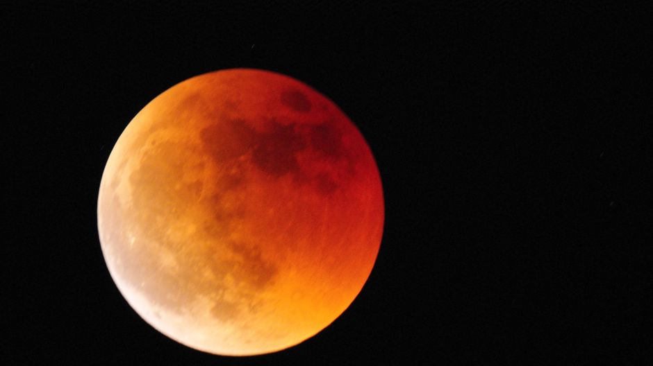 Zaćmienie księżyca widziane z okolic Mińska Mazowieckiego (fot. Twoje Info)