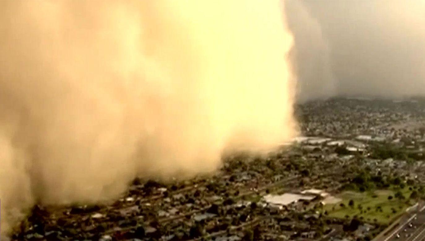 Burza piaskowa przeszła przez Arizonę (fot. TVP Info)