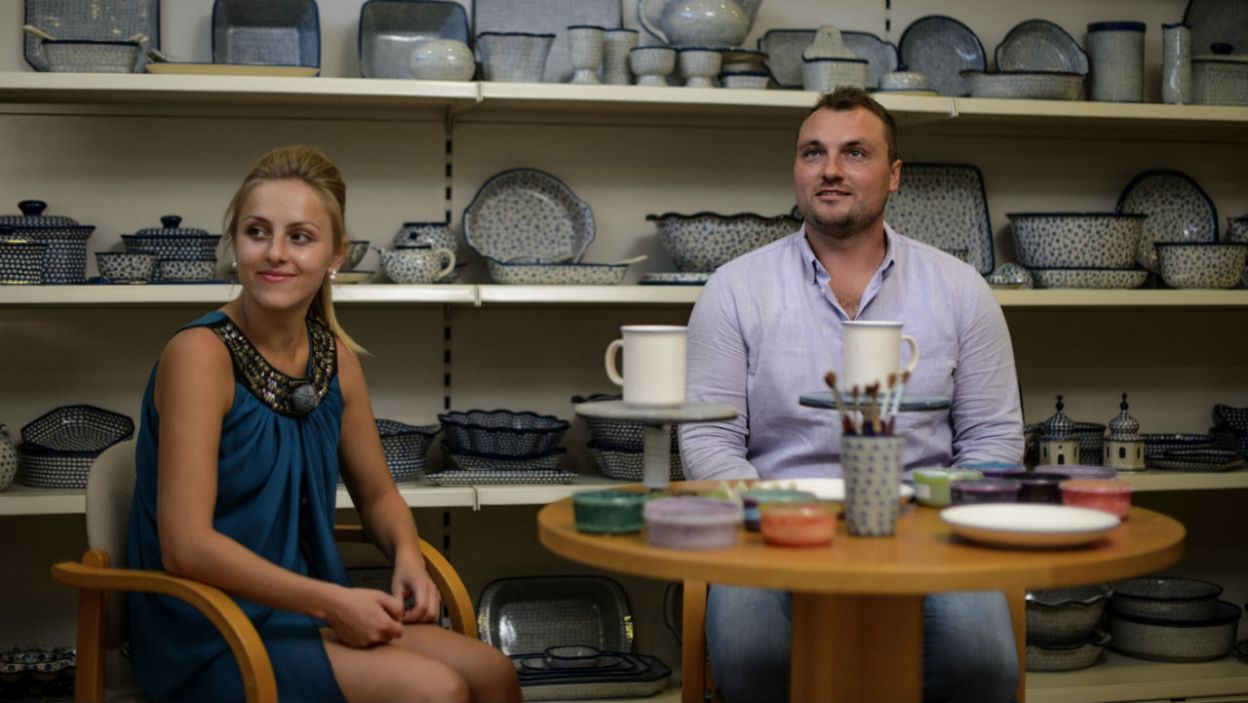 Grzegorz z Dorotą wybrali się do słynnej fabryki porcelany w Bolesławcu (fot. TVP)