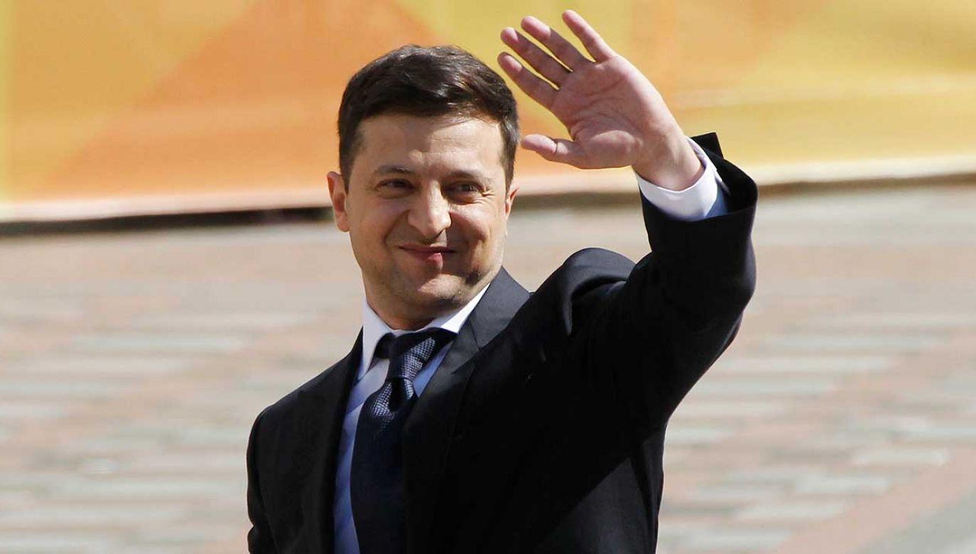 Nowo zaprzysiężony prezydent Ukrainy zobowiązał się, że będzie strzegł suwerenności i niepodległości kraju (fot. PAP/EPA/STEPAN FRANKO)