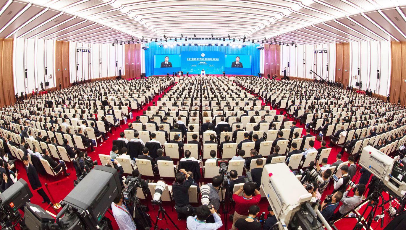 W Szanghaju odbywają się Targi China International Import Expo (fot. PAP/EPA/STRINGER)