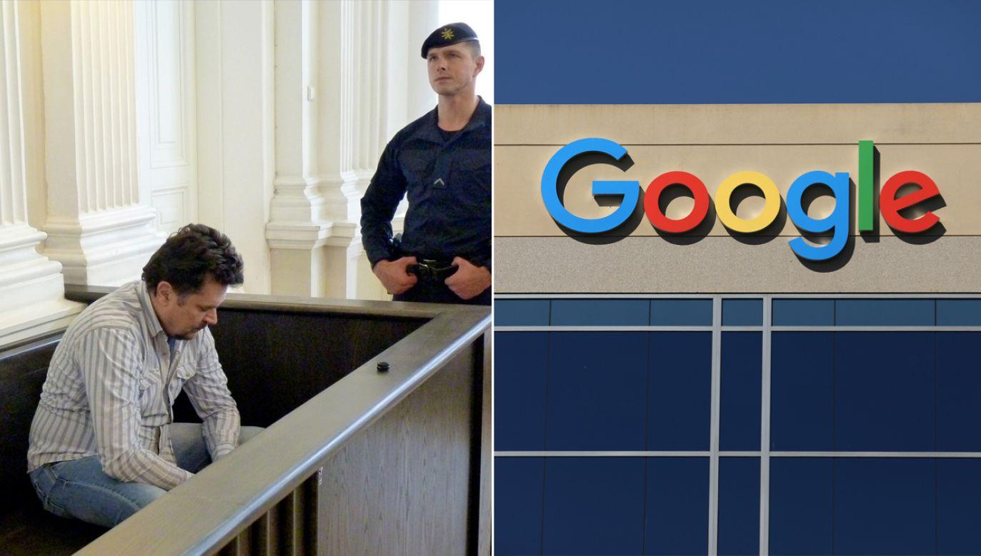 Mężczyzna wpadł dzięki czujności pracowników Google'a (fot.  REUTERS/Andrius Sytas/Mike Blake)