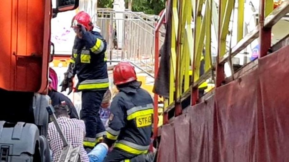 Na terenie wesołego miasteczka w Szczytnie doszło do awarii karuzeli (fot. Adam Gewartowski)