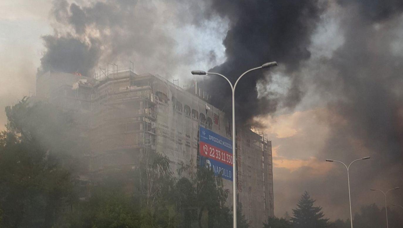 W akcji gaśniczej uczestniczyło 10 zastępów straży (fot. tt/Paweł Jachowski)