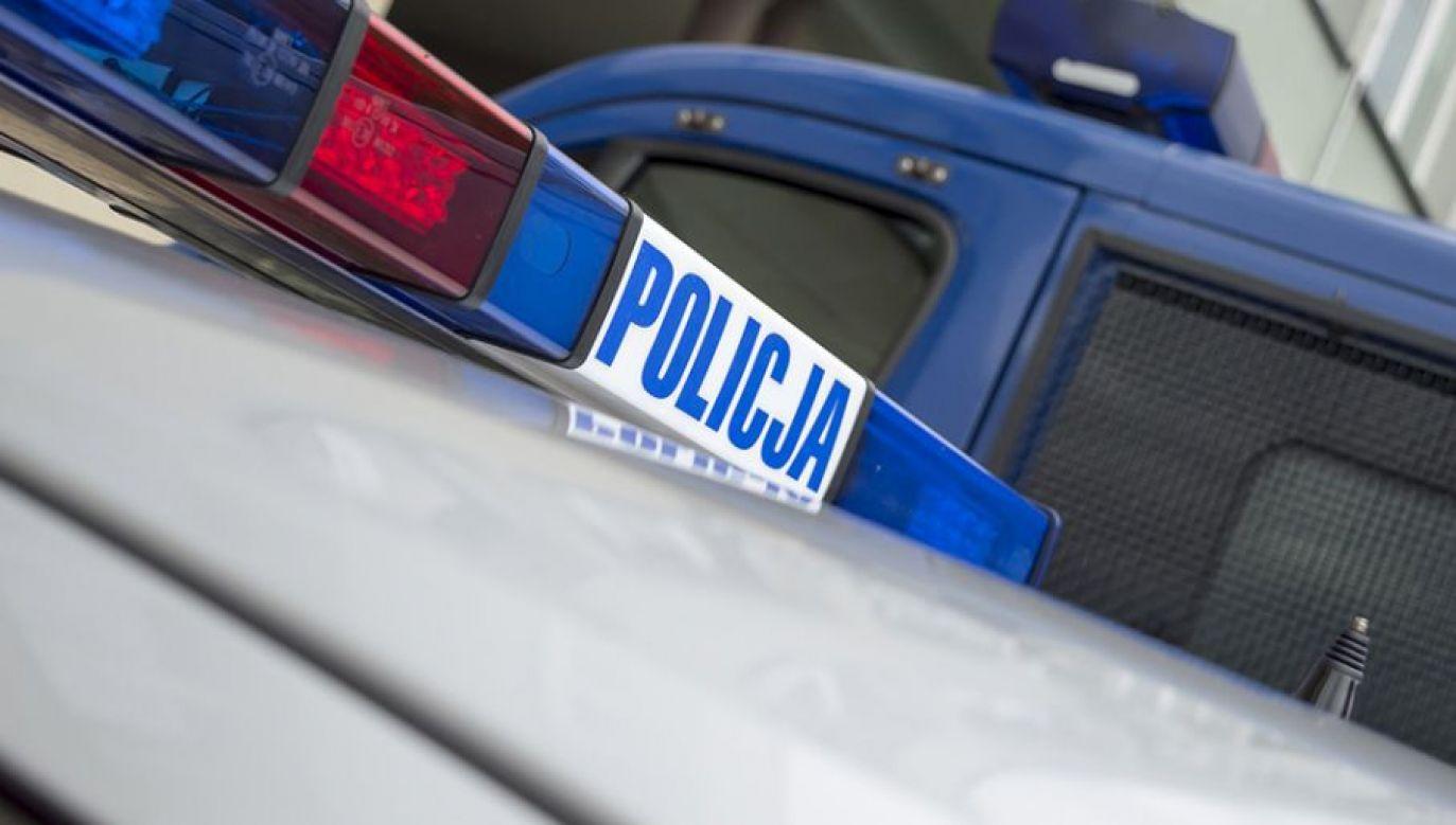 Policja przeszukuje posesję w Ciecierzynie (fot. tvp.info/Paweł Chrabąszcz)