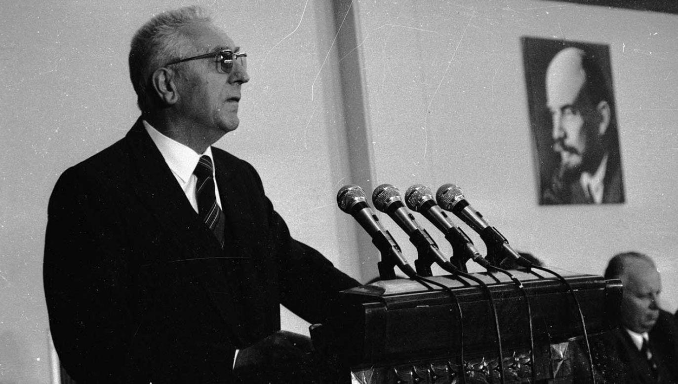 Przemówienie I sekretarza partii Edwarda Gierka. Warszawa, 24.08.1980 r. IV Plenum KC PZPR (fot. arch. PAP/ Ireneusz Radkiewicz)
