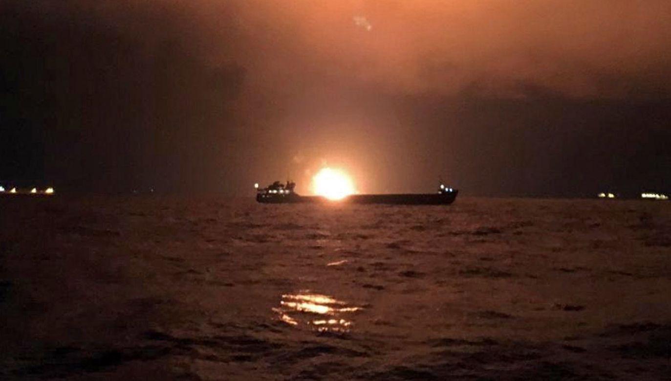 Tankowce przewoziły skroplony gaz i ropę do portów w Syrii i Libanie (fot. PAP/EPA/KERCH.FM)